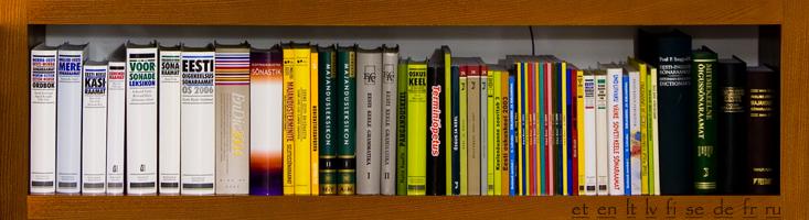keeleraamatud, sõnastikud ja teatmeteosed meie kontoris